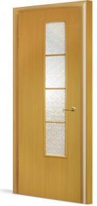Фото Двери в комплекте с коробкой Эконом (строительные) Межкомнатная дверь ламинированная в комплекте 05(О)
