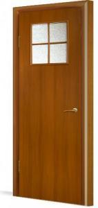 Фото Двери в комплекте с коробкой Эконом (строительные) Межкомнатная дверь ламинированная в комплекте 34(О)