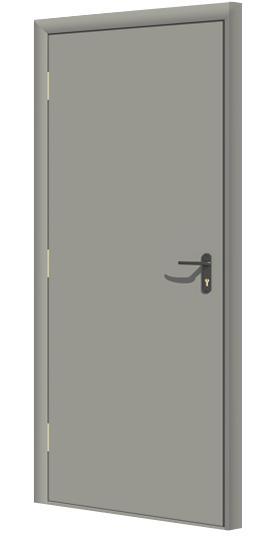 Дверь противопожарная в комплекте ДДПГ финиш пленка