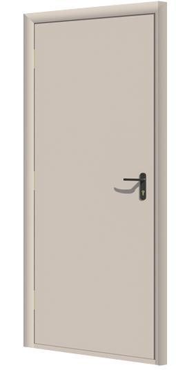 Дверь противопожарная в комплекте ДДПГ под окраску