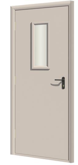 Дверь противопожарная в комплекте ДДПО под окраску