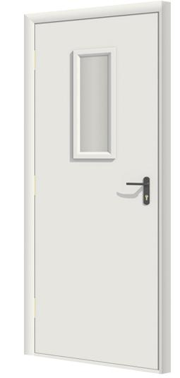 Дверь противопожарная в комплекте ДДПО ПВХ