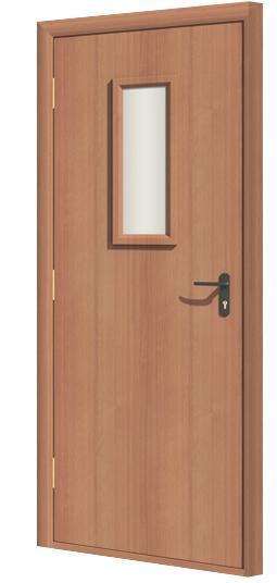 Дверь противопожарная в комплекте ДДПО ламинатин (CPL)