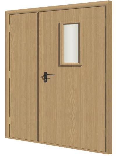 Дверь противопожарная в комплекте ДДП комбинированная ПВХ