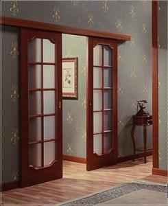 Фото Межкомнатные раздвижные дверь Эконом Межкомнатные раздвижные Двухстворчатые двери