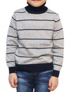 Фото Весна - осень, Джемпера и водолазки для мальчиков Джемпер для мальчика полосатый