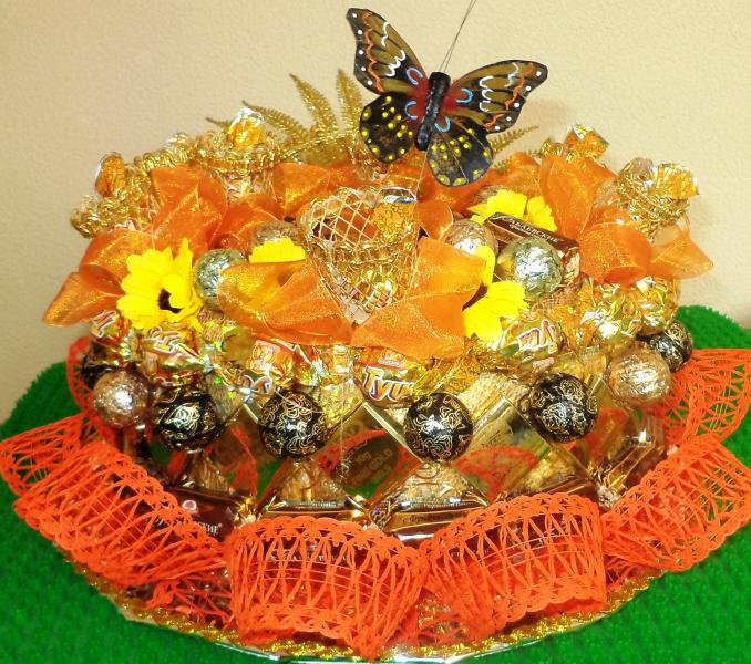 Торт подарочный из конфет «ОСЕНЬ»