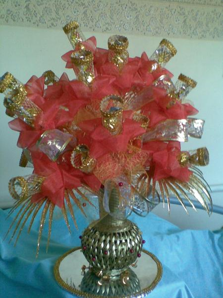 Ваза подарочная из конфет «ВАЗА ЗЕРКАЛЬНАЯ»
