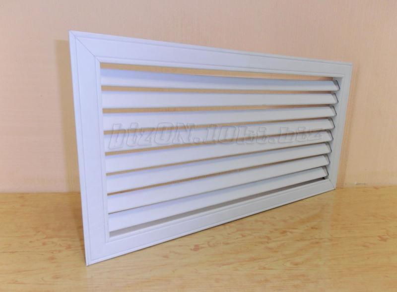 Фото Решетки ПВХ и Экраны ХДФ (МДФ) для радиаторов отопления и декора Решетка пластиковая   600 х 300 мм;   цвет - Белый;   для радиаторов отопления и декора