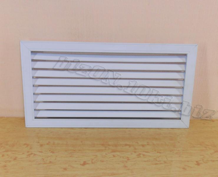 Решетка пластиковая  (Арт. Т13)    600 х 300 мм;    цвет  Белый;     для радиаторов отопления и декора