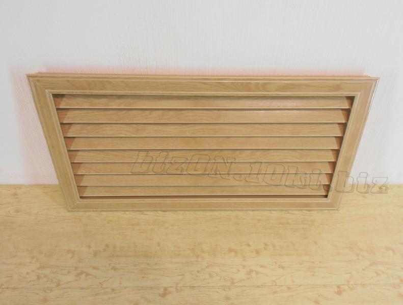 Фото Решетки ПВХ и Экраны ХДФ (МДФ) для радиаторов отопления и декора Решетка пластиковая   600 х 300 мм;   цвет - Дуб Старый;   для радиаторов отопления и декора