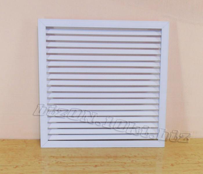 Решетка пластиковая   600 х 600 мм;   цвет - Белый;   для радиаторов отопления и декора
