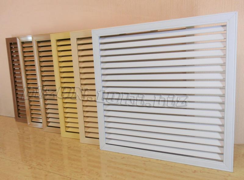 Фото Решетки ПВХ и Экраны ХДФ (МДФ) для радиаторов отопления и декора Решетка пластиковая   600 х 600 мм;   цвет - Белый;   для радиаторов отопления и декора