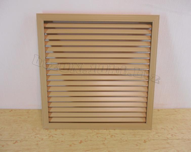 Решетка пластиковая  (Арт. Т17)    600 х 600 мм;    цвет  Дуб;     для радиаторов отопления и декора