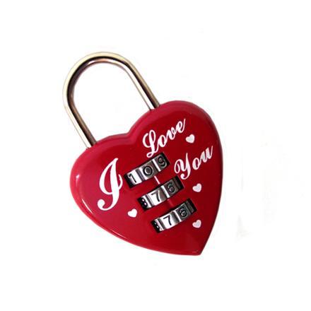 Замочек для влюблённых с кодовым набором на блистере