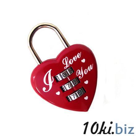 Замочек для влюблённых с кодовым набором на блистере Оригинальные подарки купить на рынке Дубровка