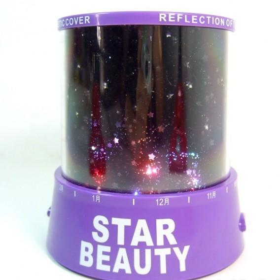 Ночник проектор звездного неба Star Beauty (фиолетовый)