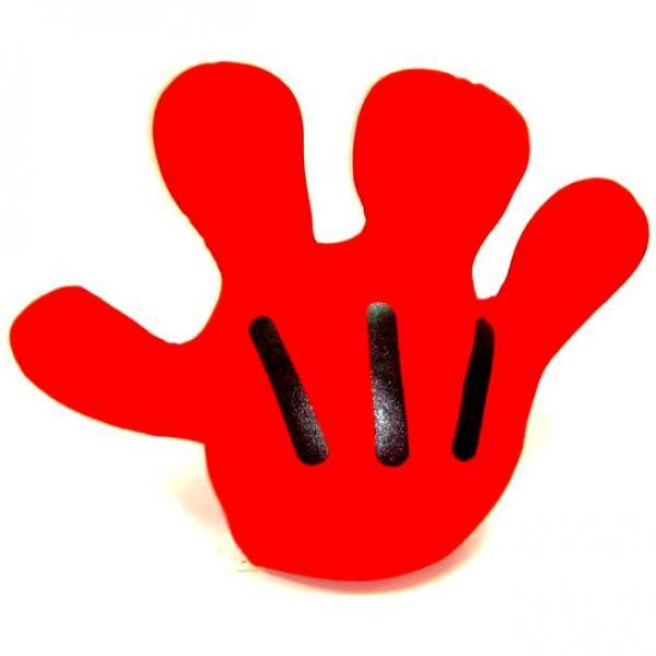Подушка-релаксант в виде руки красная большая