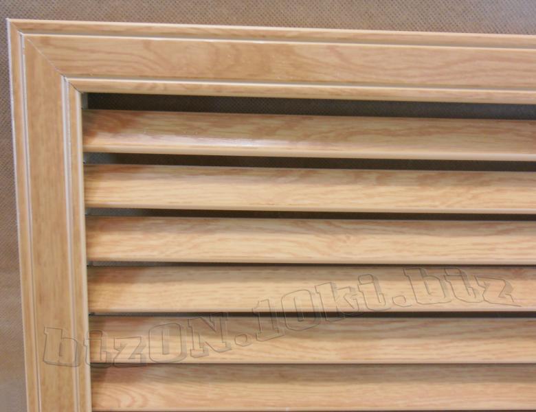 Решетка пластиковая   600 х 600 мм;   цвет - Дуб Старый;   для радиаторов отопления и декора