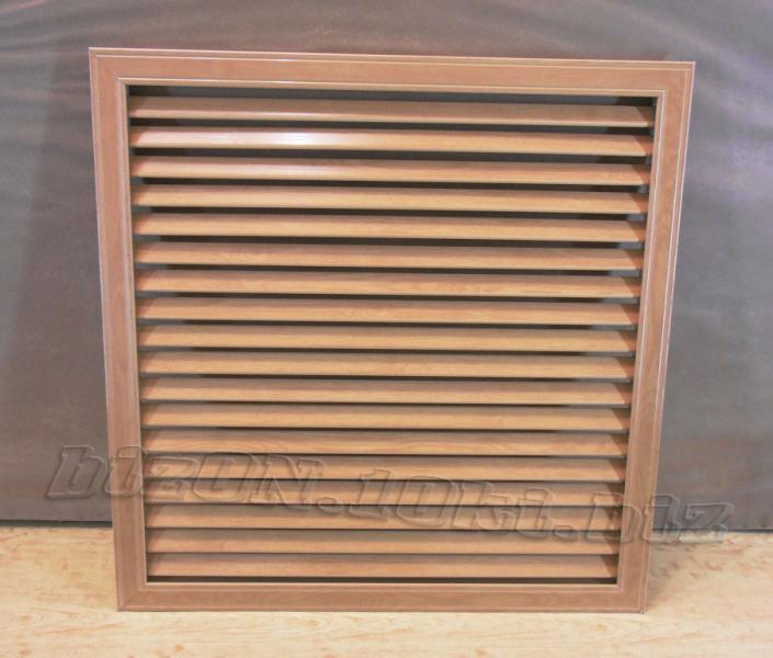 Фото Решетки ПВХ и Экраны МДФ для радиаторов отопления и декора Решетка пластиковая  (Арт. Т21)    600 х 600 мм;    цвет  Дуб Старый;     для радиаторов отопления и декора