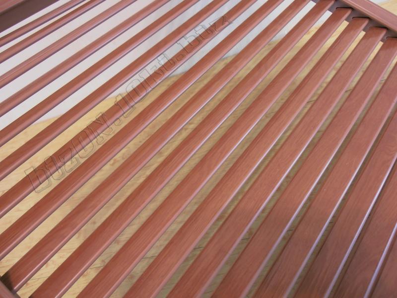 Решетка пластиковая   600 х 600 мм;   цвет - Вишня Темная;   для радиаторов отопления и декора