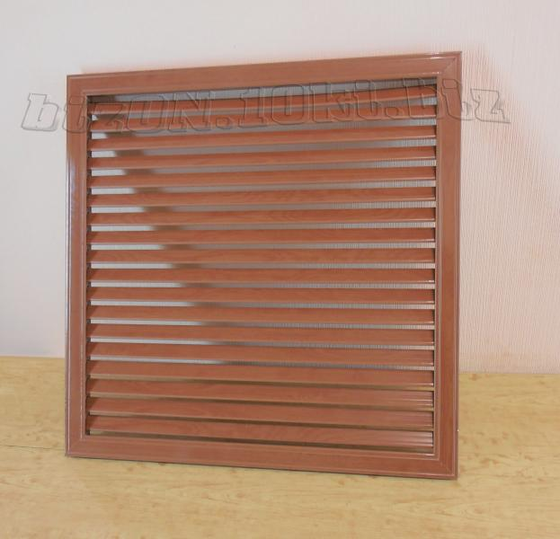 Фото Решетки ПВХ и Экраны ХДФ (МДФ) для радиаторов отопления и декора Решетка пластиковая   600 х 600 мм;   цвет - Вишня Темная;   для радиаторов отопления и декора