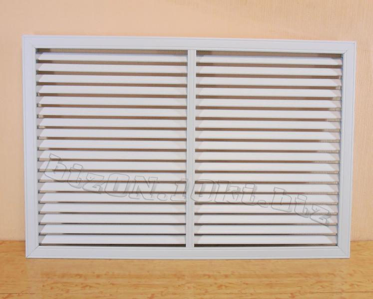 Решетка пластиковая  (Арт. Т23)    900 х 600 мм;    цвет  Белый;     для радиаторов отопления и декора