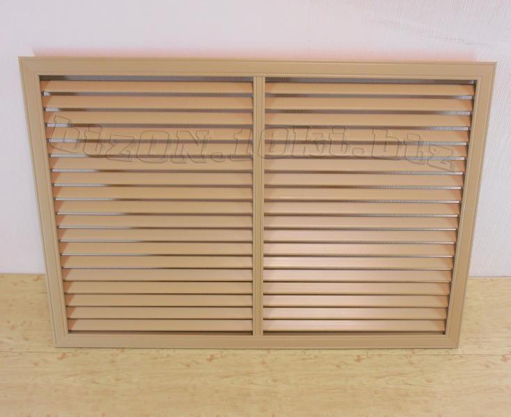 Решетка пластиковая   900 х 600 мм;   цвет - Дуб;   для радиаторов отопления и декора