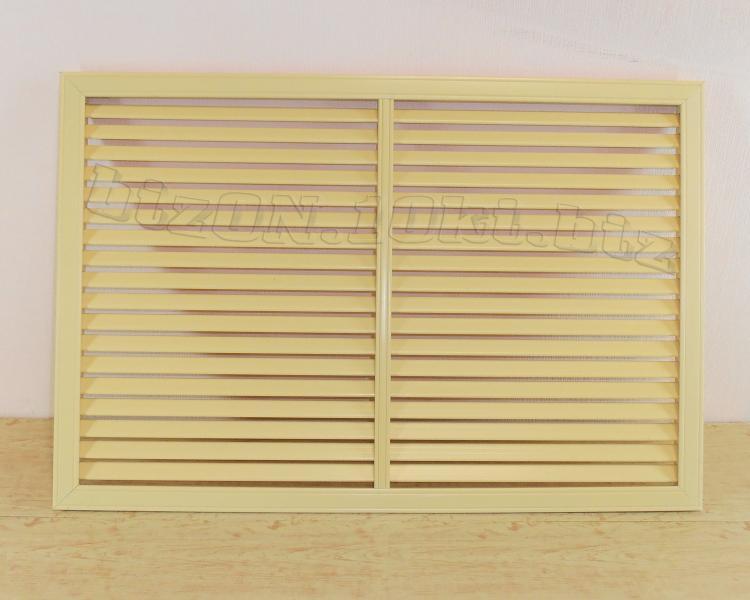 Решетка пластиковая   900 х 600 мм;   цвет - Бежевый;   для радиаторов отопления и декора