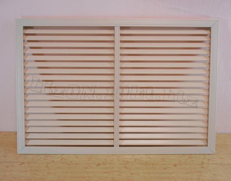 Решетка пластиковая   900 х 600 мм;   цвет - Слоновая Кость;   для радиаторов отопления и декора