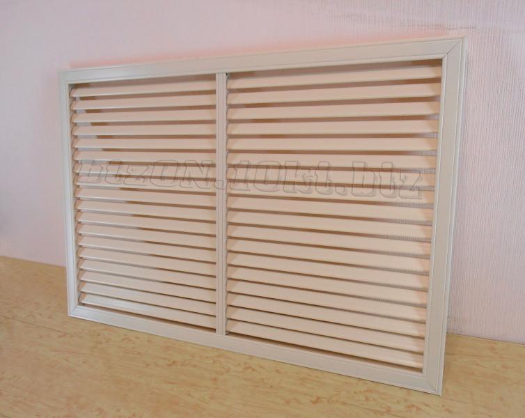 Фото Решетки ПВХ и Экраны ХДФ (МДФ) для радиаторов отопления и декора Решетка пластиковая   900 х 600 мм;   цвет - Слоновая Кость;   для радиаторов отопления и декора