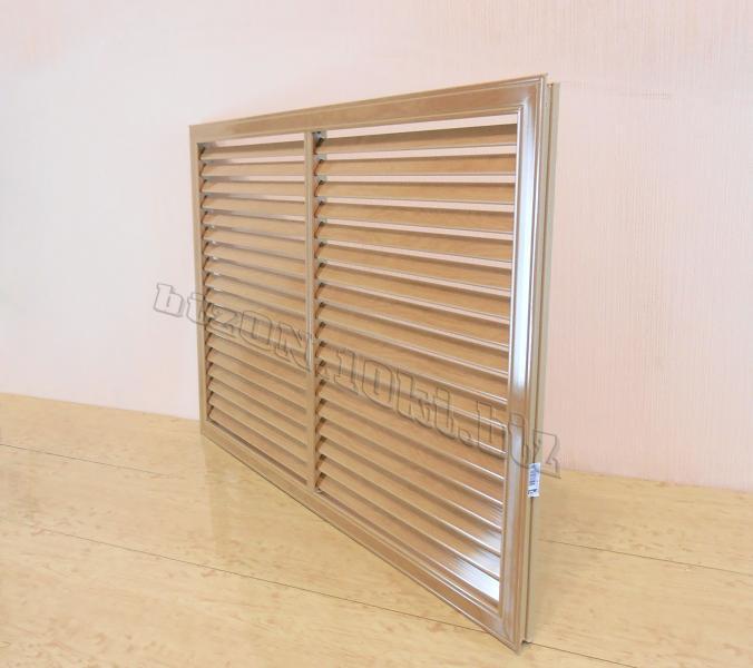 Фото Решетки ПВХ и Экраны ХДФ (МДФ) для радиаторов отопления и декора Решетка пластиковая   900 х 600 мм;   цвет - Дуб Старый;   для радиаторов отопления и декора