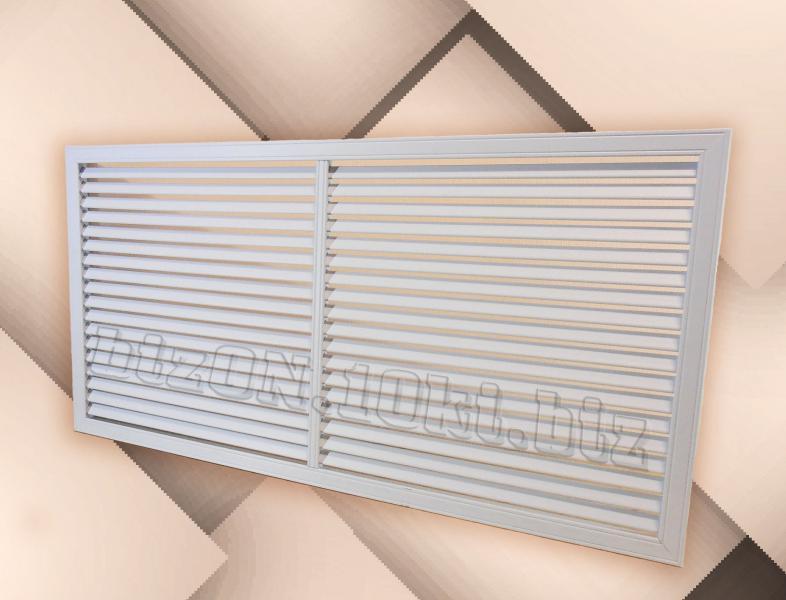 Решетка пластиковая;   размер - 1200 х 600 мм;   цвет - Белый;   для радиаторов отопления и декора