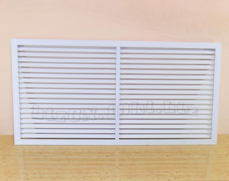 Фото Решетки ПВХ и Экраны ХДФ (МДФ) для радиаторов отопления и декора Решетка пластиковая;   размер - 1200 х 600 мм;   цвет - Белый;   для радиаторов отопления и декора