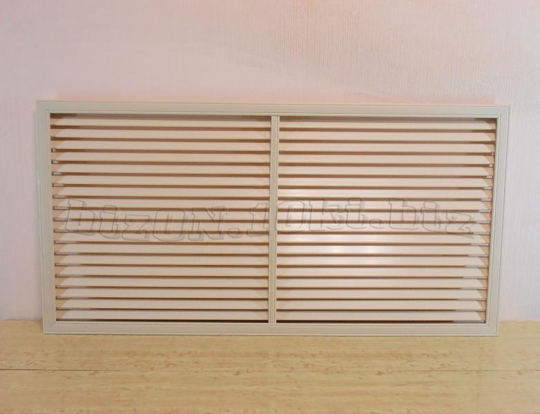 Решетка пластиковая;   размер - 1200 х 600 мм;   цвет - Слоновая Кость;   для радиаторов отопления и декора