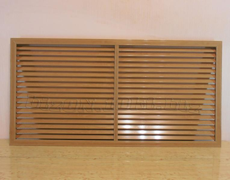 Решетка пластиковая  (Арт. Т35)    1200 х 600 мм;    цвет Дуб Старый;     для радиаторов отопления и декора