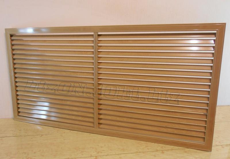 Фото Решетки ПВХ и Экраны ХДФ (МДФ) для радиаторов отопления и декора Решетка пластиковая;   размер - 1200 х 600 мм;   цвет - Дуб Старый;   для радиаторов отопления и декора