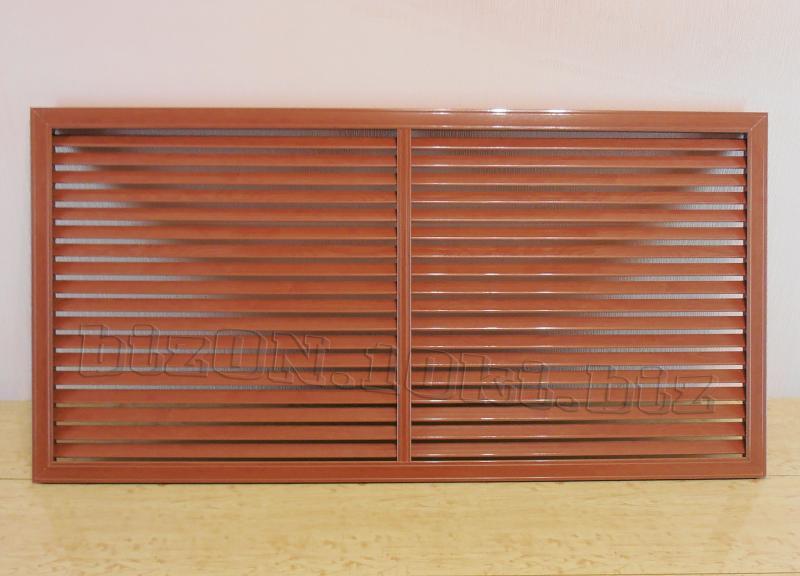 Фото Решетки ПВХ и Экраны ХДФ (МДФ) для радиаторов отопления и декора Решетка пластиковая;   размер - 1200 х 600 мм;   цвет - Вишня Темная;   для радиаторов отопления и декора