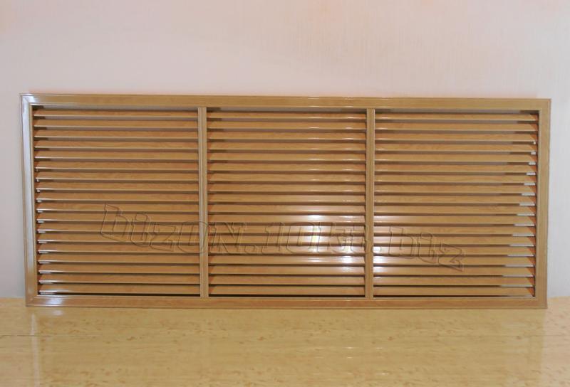 Решетка пластиковая  (Арт. Т39)    1500 х 600 мм;    цвет  Дуб Старый;     для радиаторов отопления и декора