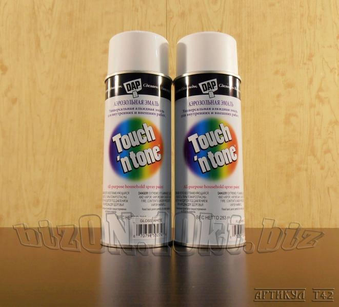 Универсальная аэрозольная краска DAP® Touch'N Tone®   All-Purpose Spray Paint     цвет – Белый     (Арт. Т42)