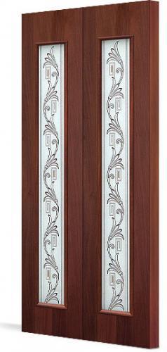 Межкомнатная складная дверь Тип С-22(х) «Вьюн»