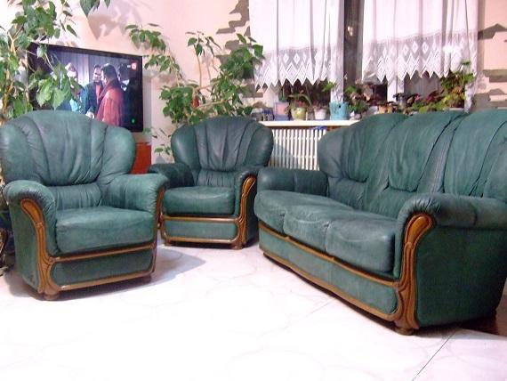 Комплект кожаной мебели (3+1+1 )фирмы Nieri Италлия