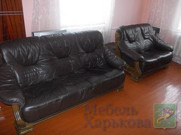 Комплект мебели кожа на дубовом каркасе  (3+2) - Комплекты мягкой мебели в Харькове