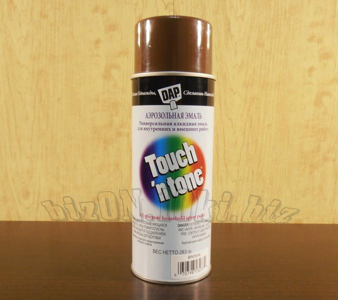 Универсальная аэрозольная краска DAP® Touch'N Tone®   All-Purpose Spray Paint     цвет – Коричневый     (Арт. Т47)