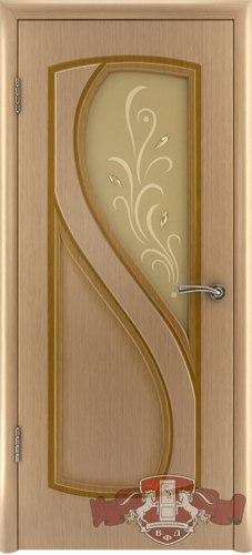 """Межкомнатная шпонированная дверь """"Грация"""" (О) остекленная"""