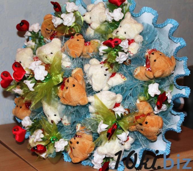 Букет из игрушек «С НОВОРОЖДЕННЫМ» Подарки и сувениры ручной работы купить на рынке Дубровка