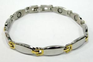 Фото Магнитные браслеты, Стальные Магнитный стальной браслет Лилия