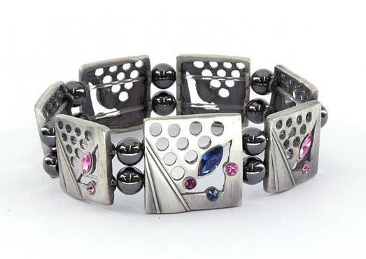 Магнитный гематитовый браслет Дениза