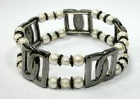 Фото Магнитные браслеты, Гематитовые Магнитный гематитовый браслет Шанель