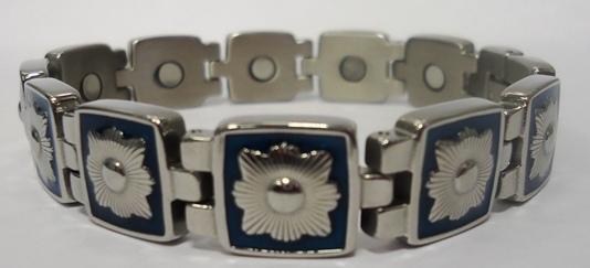 Магнитный стальной браслет Адмирал